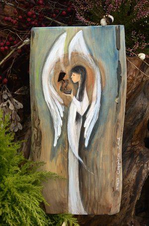 Anioł Niezwykłości - wyjątkowy Anioł dla wyjątkowego właściciela| Angel painted on wood