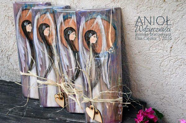 Anioł Wdzieczności - anioł w podziękowaniu dla rodziców od pary młodej podczas błogosławieństwa