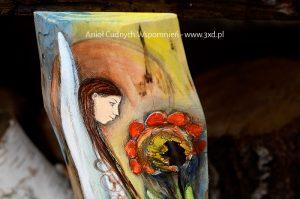 Anioł Cudnych Wspomnień | Anioły malowane na drewnie | Prezenty i podziękowania dla Rodziców na weselu| Angel painted on wood