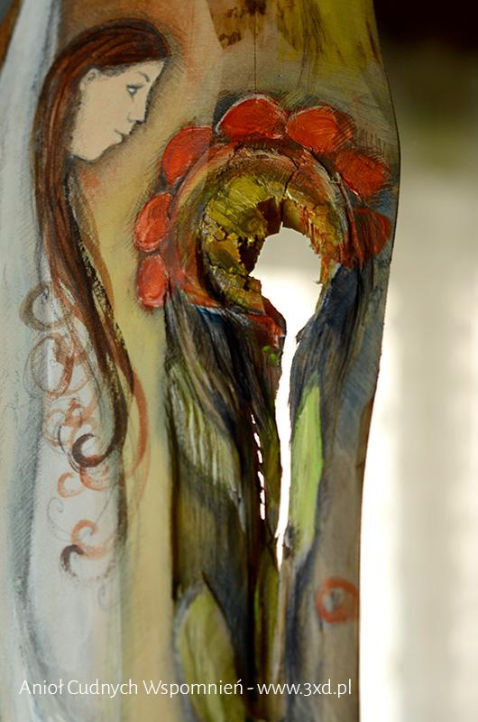 Anioł Cudnych Wspomnień | Anioły malowane na drewnie | Prezenty i podziękowania dla Rodziców na weseluv