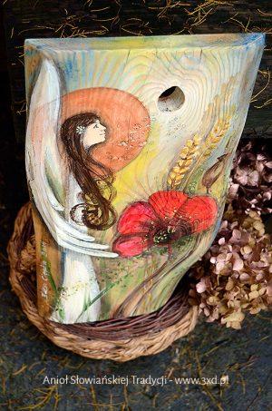 Anioł Słowiańskiej Tradycji | oryginalny i niepowtarzalny Anioł ręcznie malowany na drewnie | Na prezent ślubny, podziękowania dla Rodziców lub na inna okazję, gdzie tradycja ma duże znaczenie