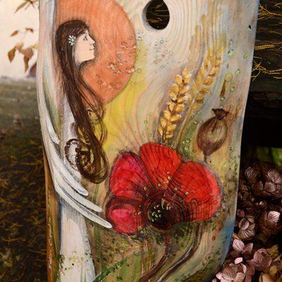 Anioł Słowiańskiej Tradycji | oryginalny i niepowtarzalny Anioł ręcznie malowany na drewnie | Na prezent ślubny, podziękowania dla Rodziców lub na inna okazję, gdzie tradycja ma duże znaczenie| Angel painted on wood
