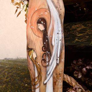 Anioł Matczynej Miłości | Oryginalny i niepowtarzalny Anioł ręcznie malowany na drewnie | Doskonały prezent dla Mamy, ale także doskonale sprawdzi się jako prezent od Mamy w momencie błogosławieństwa ślubnego Młodej Paryv