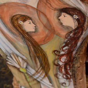 Anioły Wzajemnego Szacunku | Oryginalny i niepowtarzalny Anioł ręcznie malowany na drewnie | Prezent odpowiedni dla każdego, bowiem każdy człowiek zasługuje na szacunek