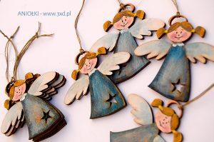 Aniołki na prezenty, jako ozdoba świąteczna oraz jako podziękowania dla gości z okazji Pierwszej Komunii Świętej lub na Chrzcie Świętym