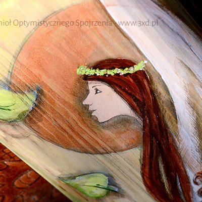 Anioł Optymistycznego Spojrzenia   Przynosi optymizm i wiosenny powiew   Prezent dla każdego na nowe, lepsze dni!  Angel painted on wood