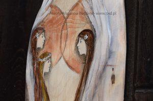 """""""Anioły Wsparcia Rodziny"""" ręcznie malowane na drewnie są symbolem wdzięczności dla Rodziców za miłość i wychowanie"""