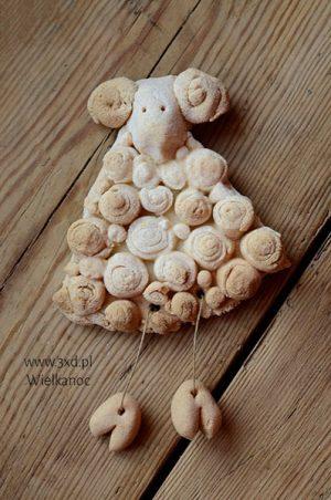 Baran Wielkanocny wełniaty to ozdoba na Wielkanoc do powieszenia w dowolnym miejscu :) lub jako świąteczny upominek