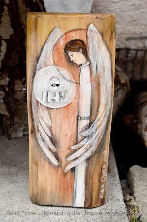 Anioł Eucharystii dla Chłopca jest wyjątkowym i oryginalnym prezentem i równocześnie pamiątką na całe życie dla chłopca z okazji Pierwszej Komunii Świętej
