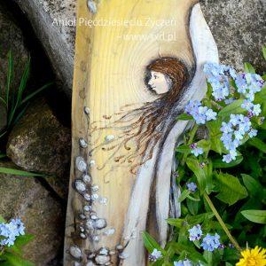 Anioł Pięćdziesięciu Życzeń | Anioły malowane na drewnie | Prezent na 50-te urodziny lub 50-tą rocznicę ślubu | Elka Ciępka |www.3xd.pl