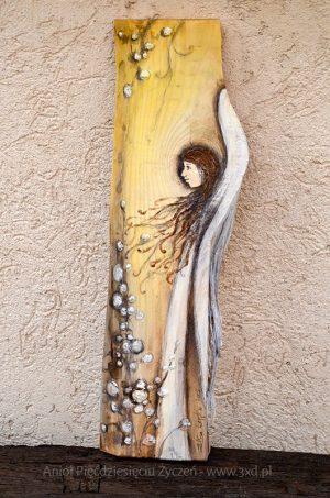 Anioł Pięćdziesięciu Życzeń | Anioły malowane na drewnie | Prezent na 50-te urodziny lub 50-tą rocznicę ślubu
