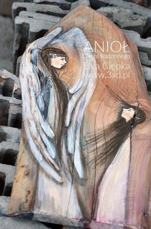 Anioł Ciepła Rodzinnego w kształcie kapliczki | autor: Elka Ciępka