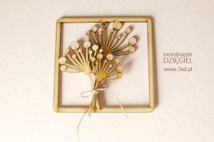 """Miniobrazek """"DZIĘGIEL"""" - personalizowane podziękowanie dla gości weselnych"""
