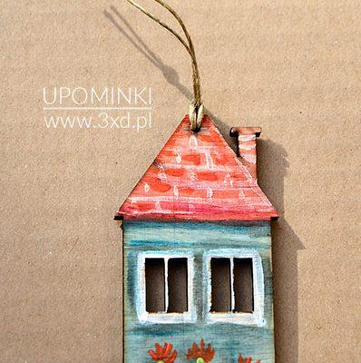 Upominek - domek wysoki