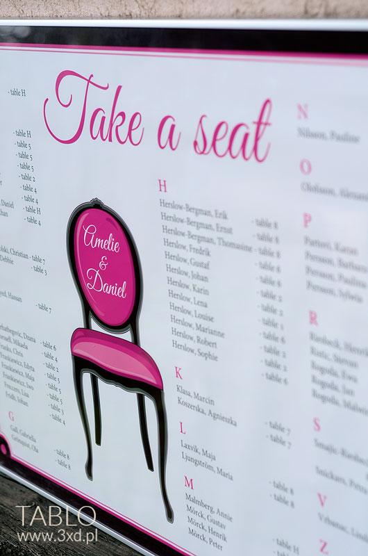 """TABLO """"Take a seat"""""""