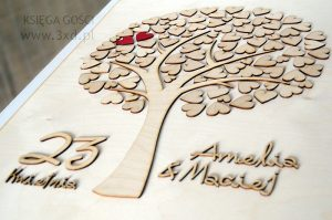 KSIĘGA GOŚCI - drzewko z serduszkami