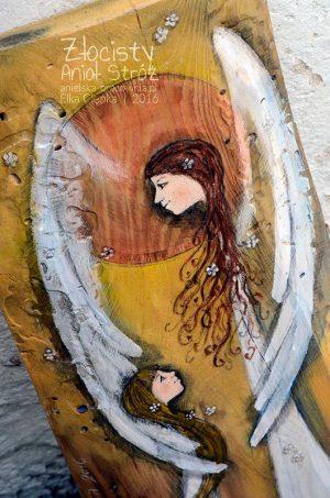"""""""Złocisty Anioł Stróż"""" jest oryginalnym prezentem zarówno na Chrzest Święty, jak i na Pierwszą Komunię Świętą"""