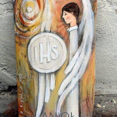 Anioł w Blasku Hostii - prezent dla Chłopca na Pierwszą Komunię Świętą