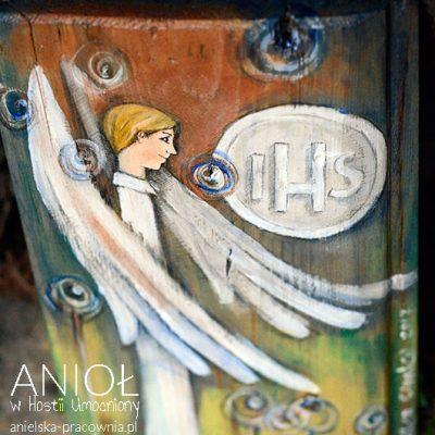 Anioł w Hostii Umocniony - prezent dla Chłopca z okazji Pierwszej Komunii