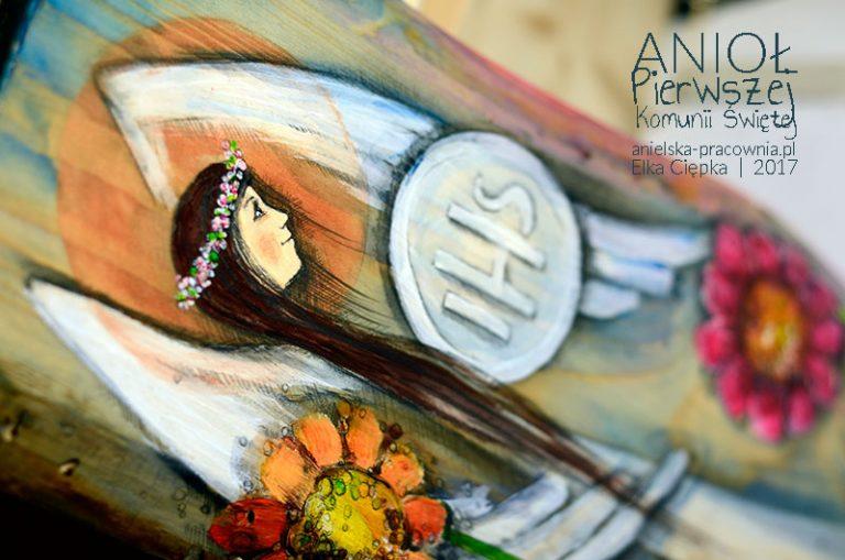 Anioł Pierwszej Komunii Świętej - prezent na komunię dla dziewczynki