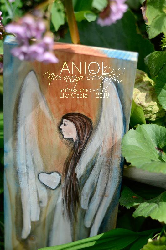 Anioł Niewinnego Serduszka - idealny prezent na komunię lub chrzciny