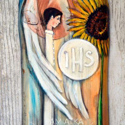 Anioł na pamiątkę Pierwszej Komunii Świętej dla Chłopca