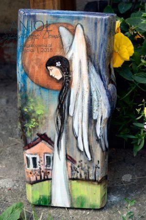 Anioł Szczęśliwego Domu na parapetówkę do nowego domu lub jako podziękowanie dla Rodziców na weselu