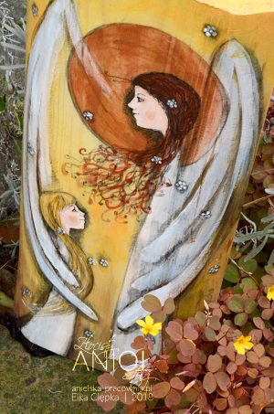 Złocisty Anioł Stróż w wersji zarówno dla dziewczynki, jak i dla chłopca