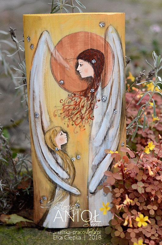 Złocisty Anioł Stróż dla dziewczynki lub chłopca