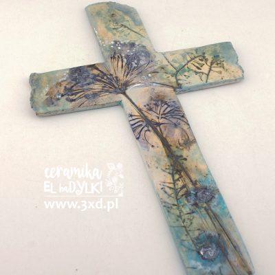 EL baDYLKI - ceramiczny unikatowy krzyż
