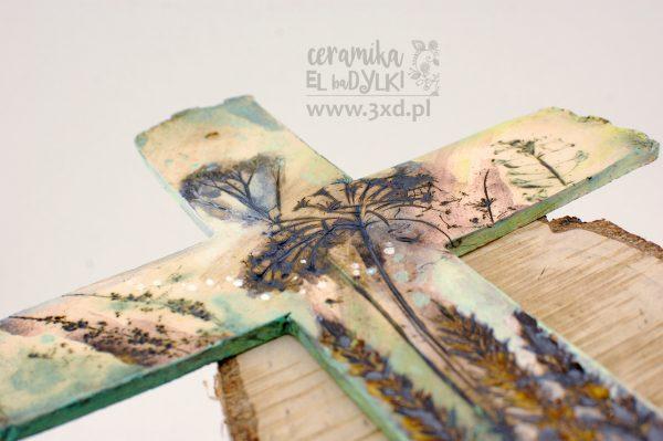 Unikatowy ceramiczny KRZYŻ z autorskiej kolekcji EL-baDYLKI