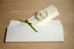 Zaproszenia ślubne z kopertą - Margaretkowy Czar
