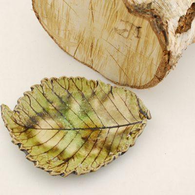 miseczka - liść zielony