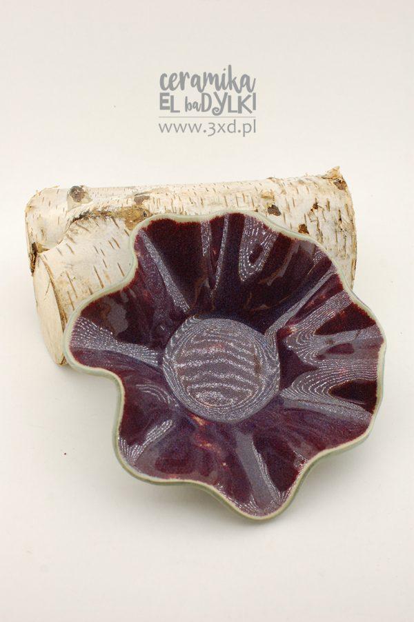 MISKA czerwony kwiat z autorskiej kolekcji