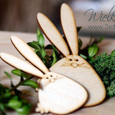 Wielkanocne zajączki - zestaw dwóch wielkanocnych zajączków